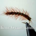 Нахлыстовая мушка Оливковая гусеница