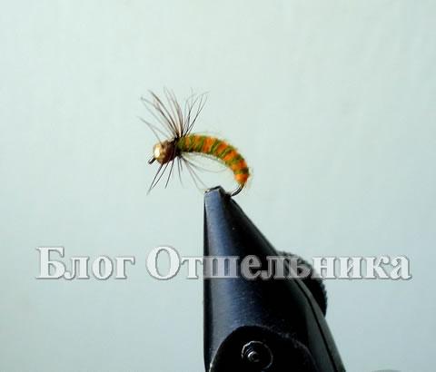 Мушка персиковый шитик