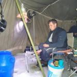 В шатре удобно ловить навагу