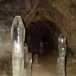 Сосульки в пещере