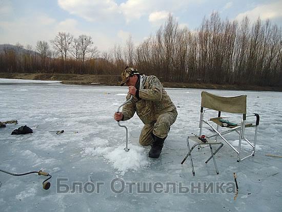 Место для зимней рыбалки