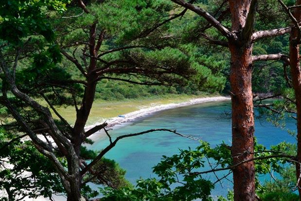 Пляж в северной части б. Средня